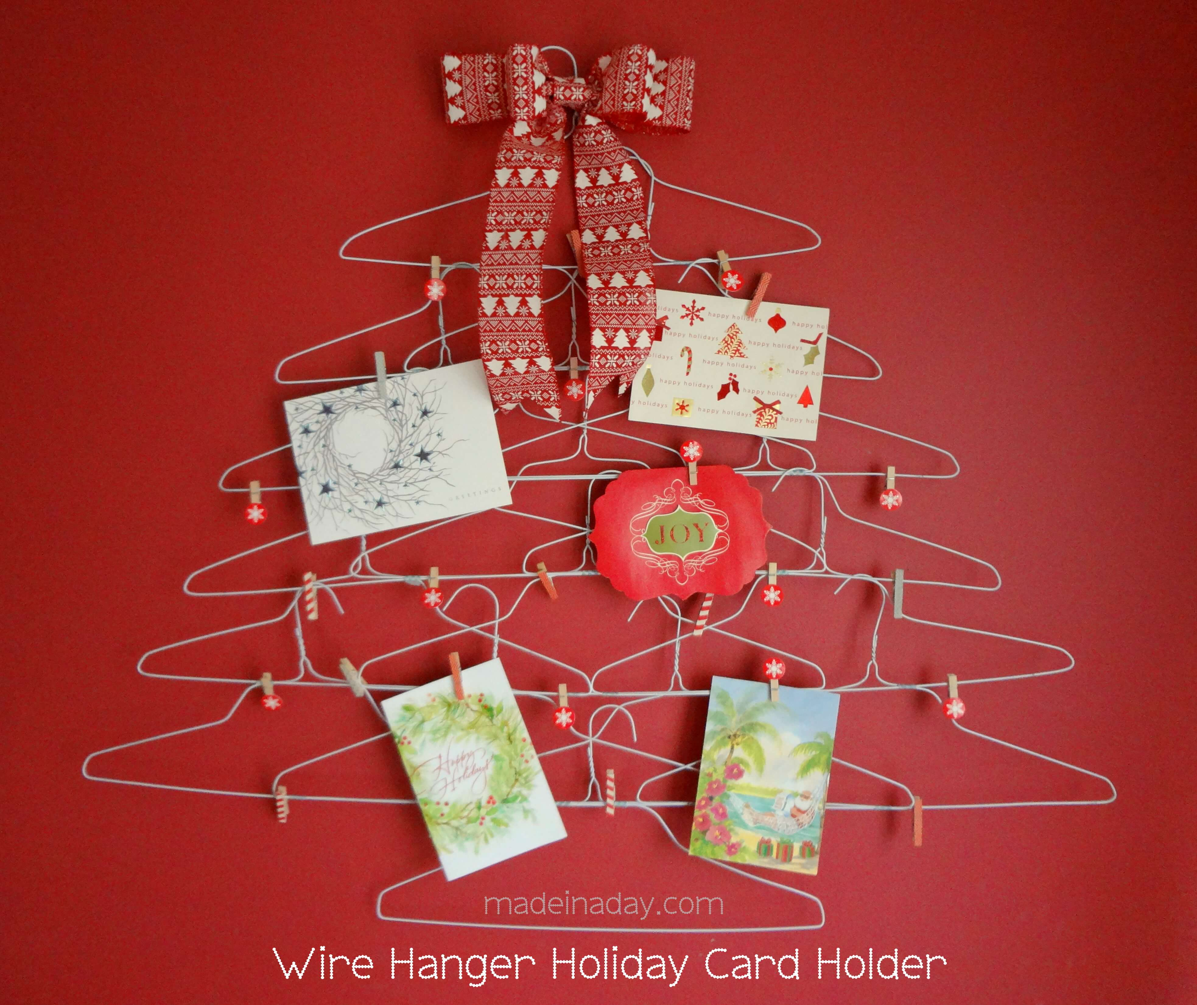 Wire Christmas tree holder for your cards