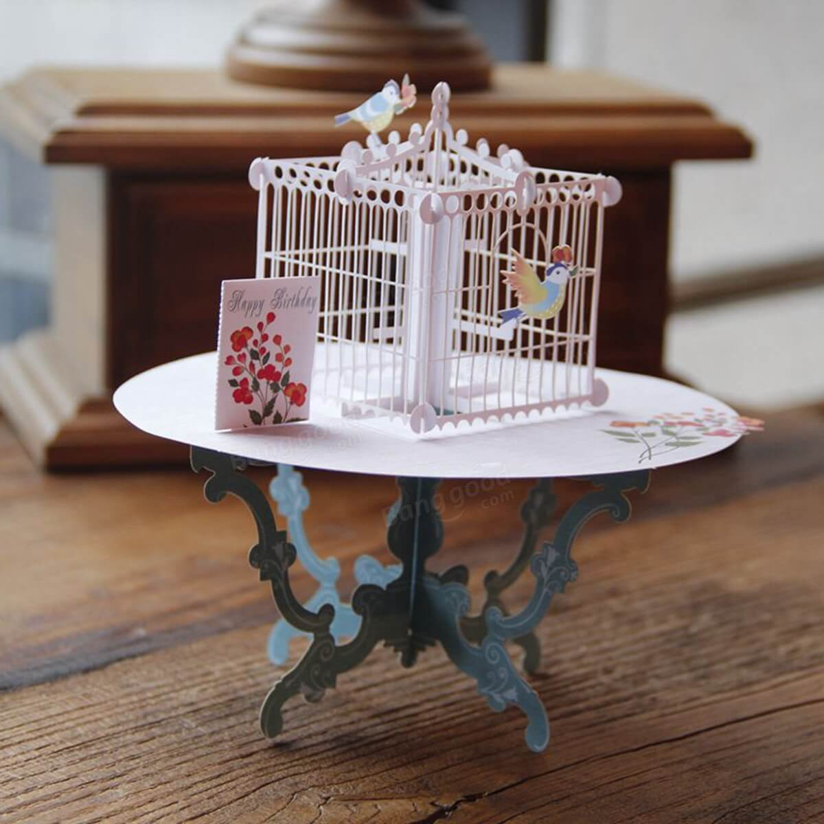 A birdcage holiday holder for your Xmas cards