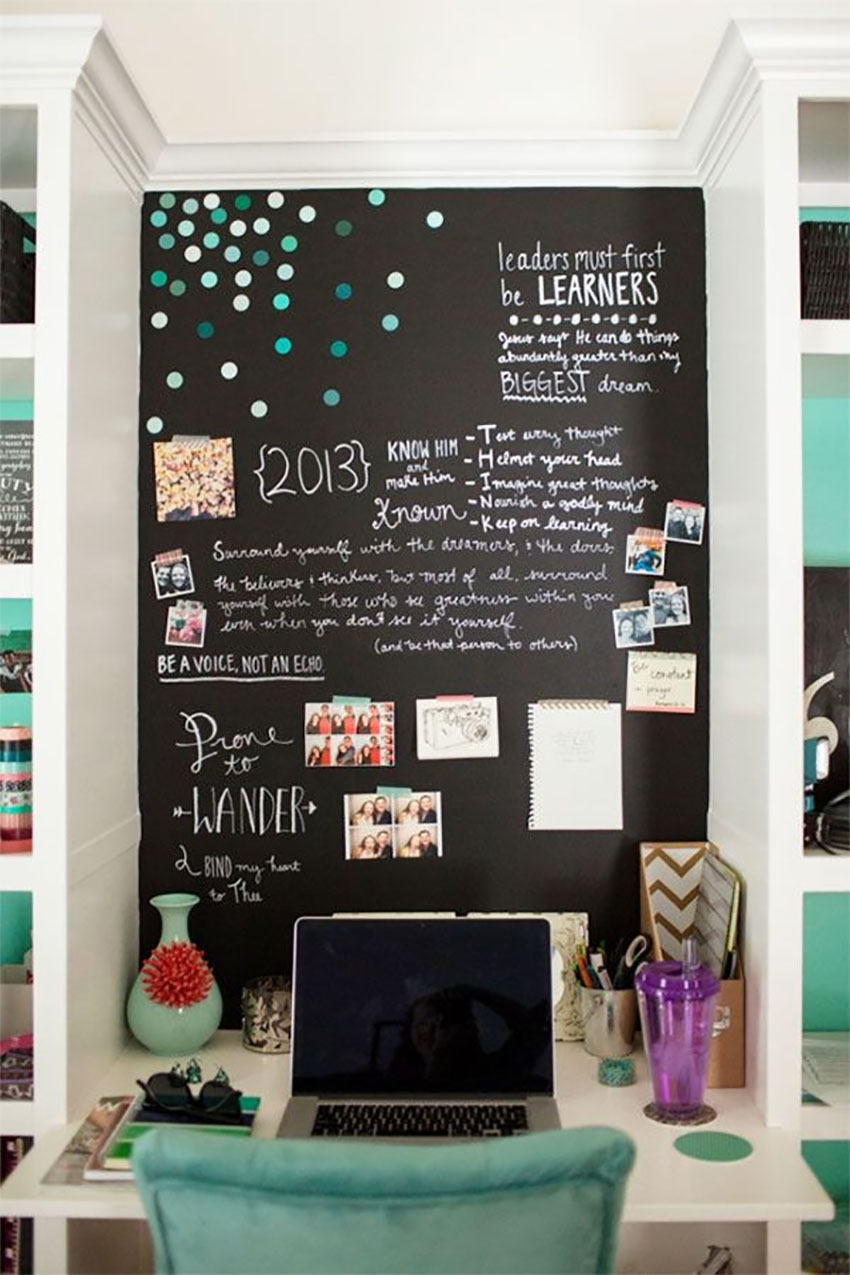 Chalkboard paint opens up so many decorating possibilities!