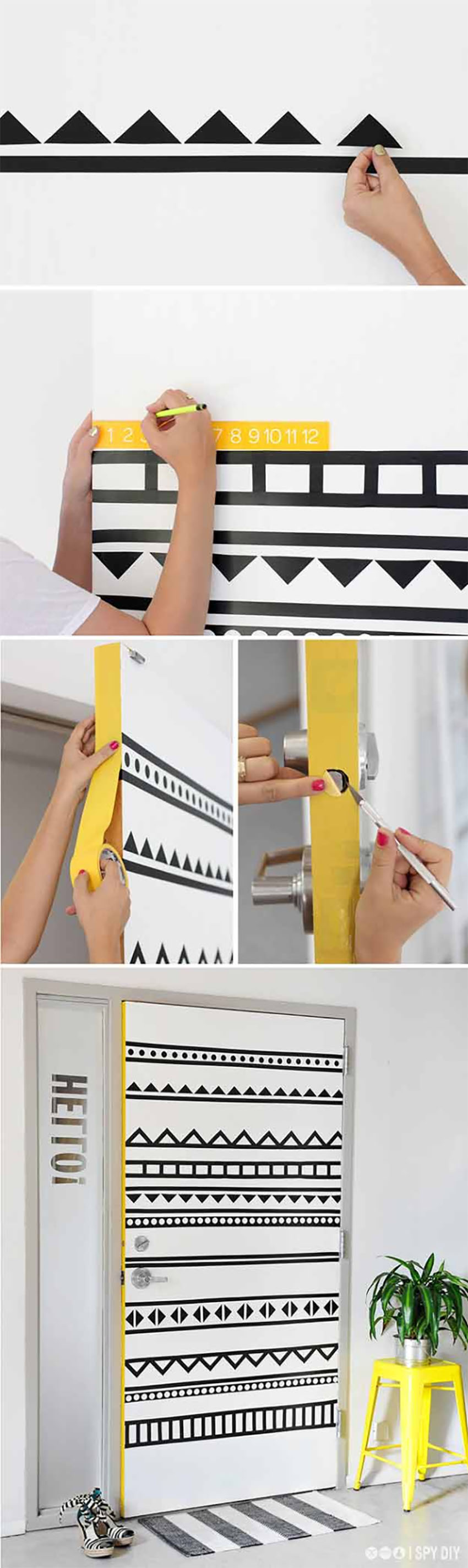 Washi Tape is an easy way to redecorate!