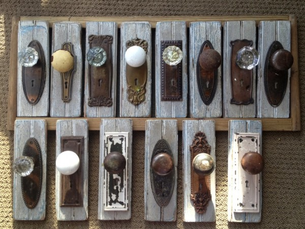 Antique or vintage door knobs can be used to create unique wall art for your home.
