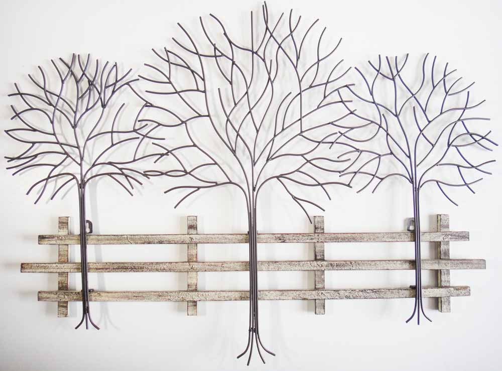 Metal can be used to make unique and industrial style wall art.