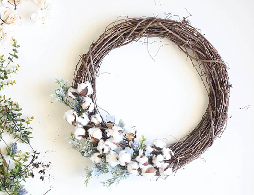 This DIY fall wreath is perfect if you want a more rustic vibe.