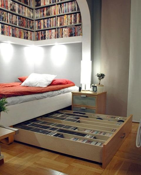 store your movie library under your bed