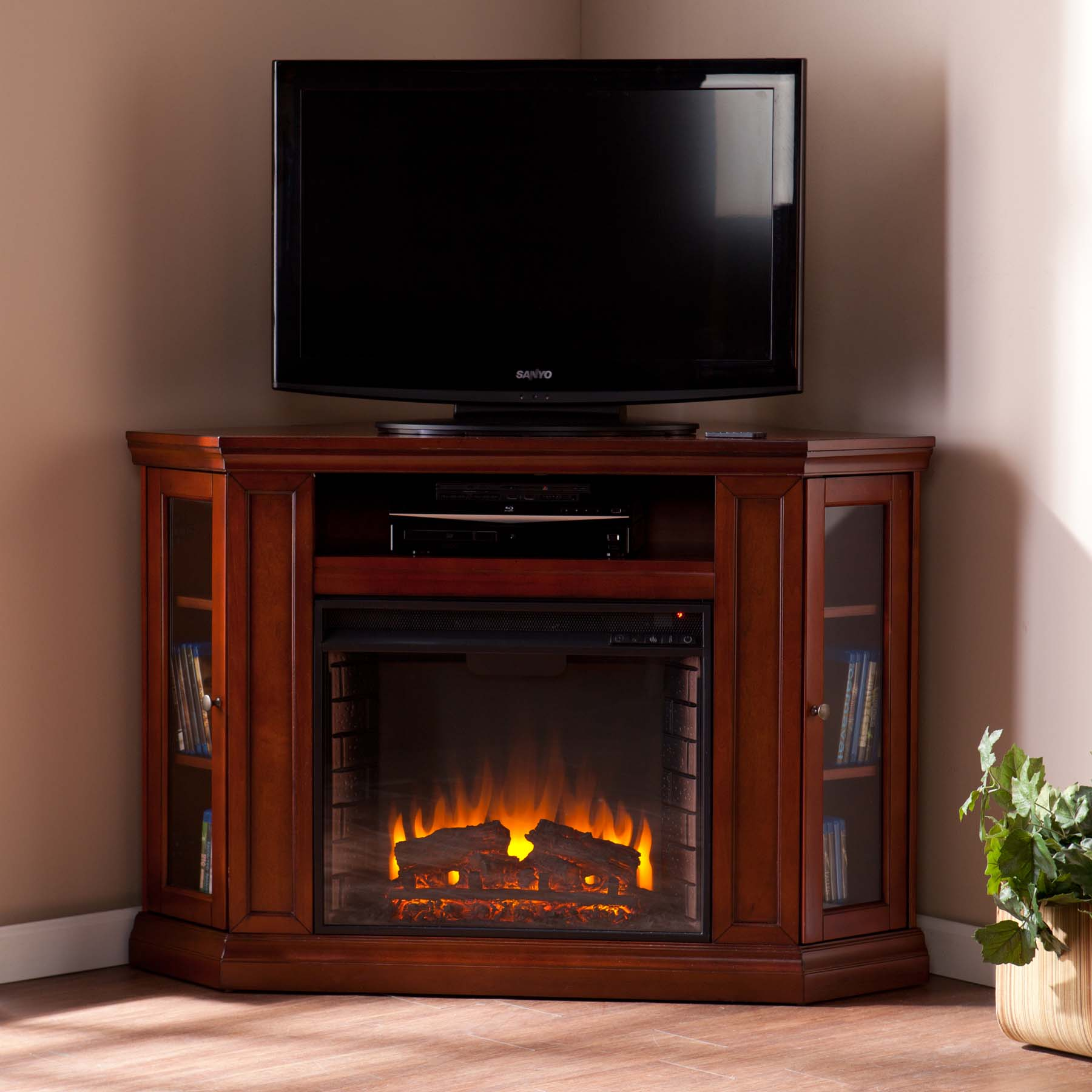 http://www.portablefireplace.com/corner-electric-fireplaces/
