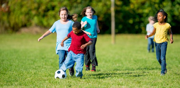 Plan a sports day for your kids to keep them entertained during the summer.