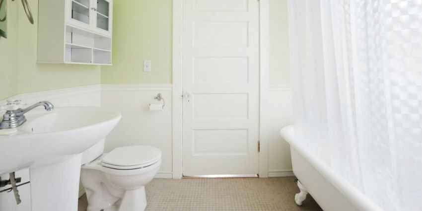 Bathrooms say a lot a about how well the house maintenance has been. Keep it pristine clean. Image Source: Surrey Cleaning Angels.