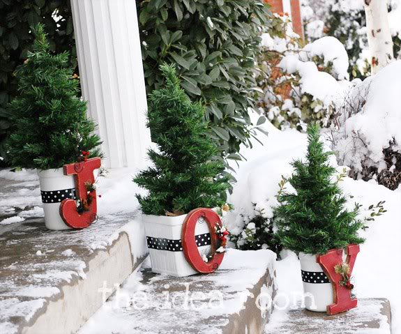 Use your front steps to their full advantage by decorating them!