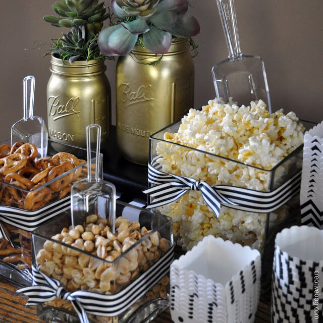Snacks and champagne are essential for any New Year's Eve party!
