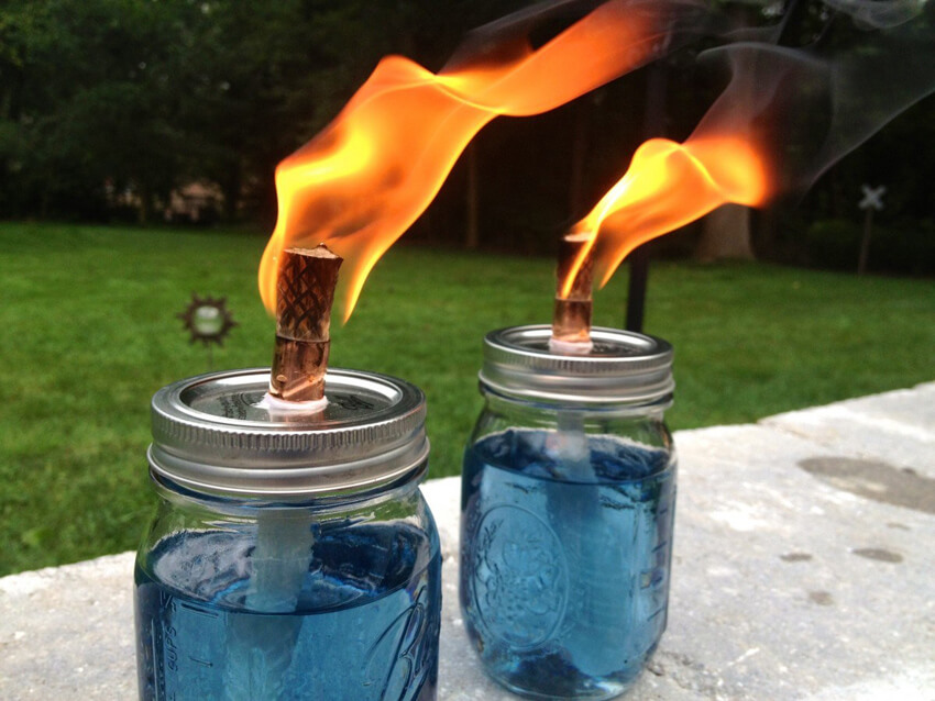Make your own citronella candles to keep pests away!