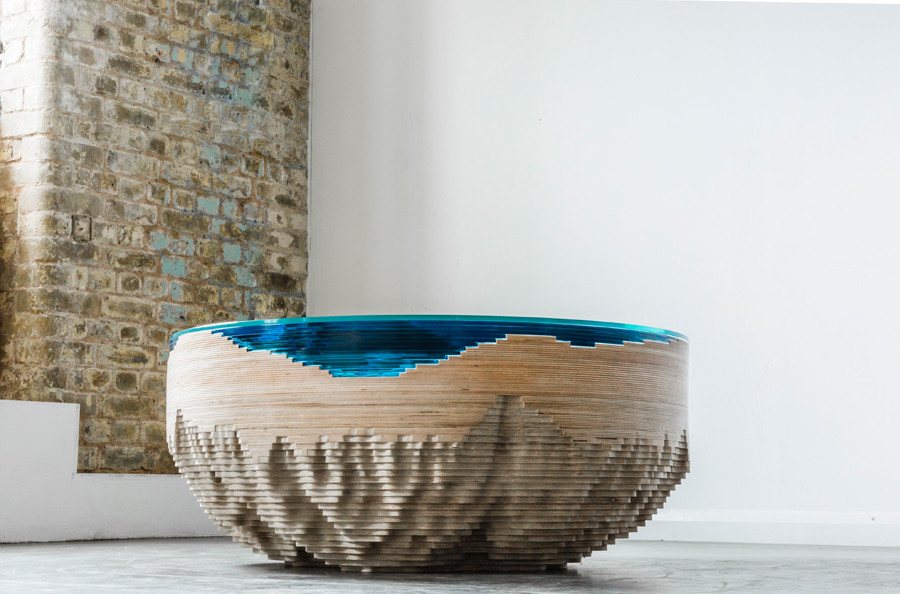 It takes about three months to make a single table. It's called The Abyss Horizon. Image Source: Elle Decor