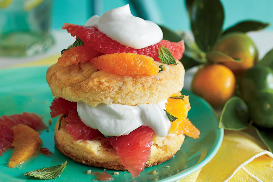 spring inspired citrus shortcakes