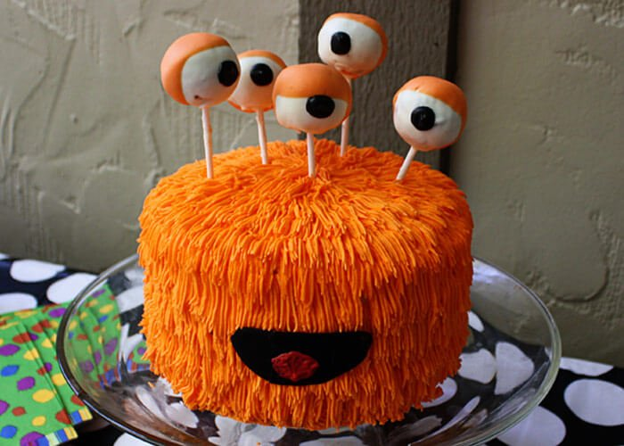 This cake has 360 degrees of vision and deliciousness