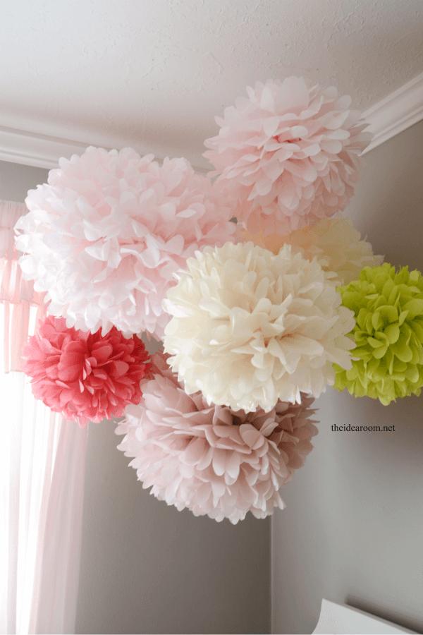 Pom-poms are a fluffy decor addition
