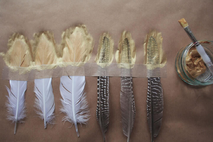 Golden feathers! Sure, why not?