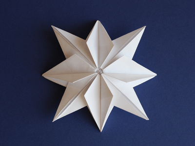 Origami stars are a festive way to bring in the new year
