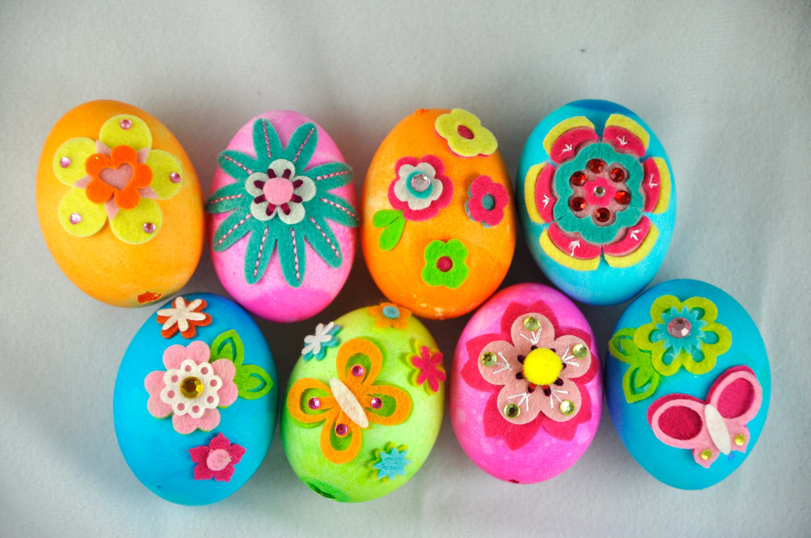 Colorful painting options for outdoor egg hunts