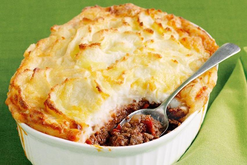 Cottage pie is a delicious casserole dish that's perfect for parties.
