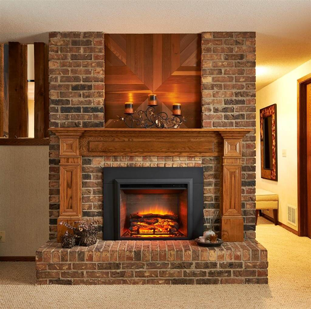 Brickwork masonry used to create fireplaces