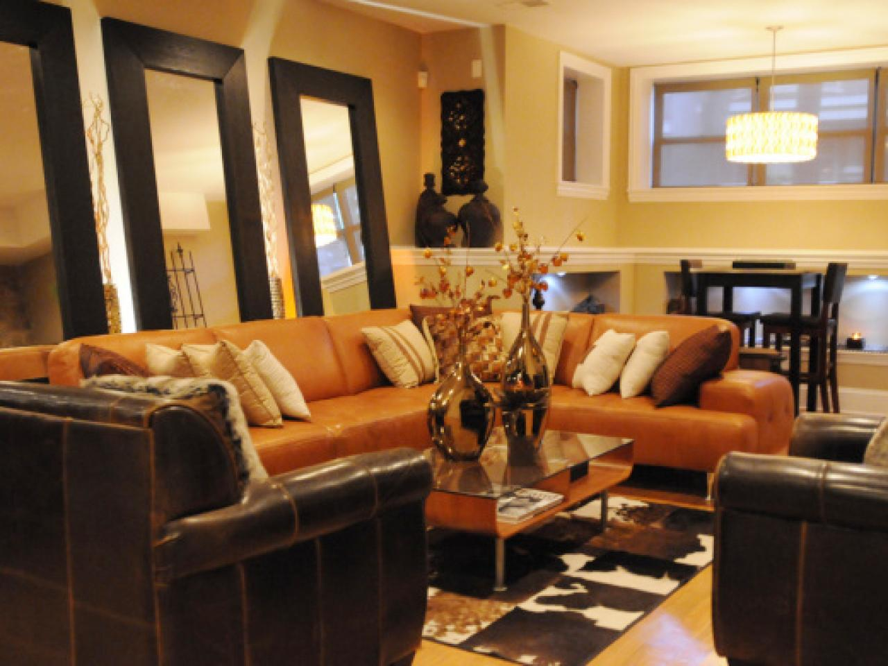 Best colors palettes for all your fall decorating for Orange color living room designs