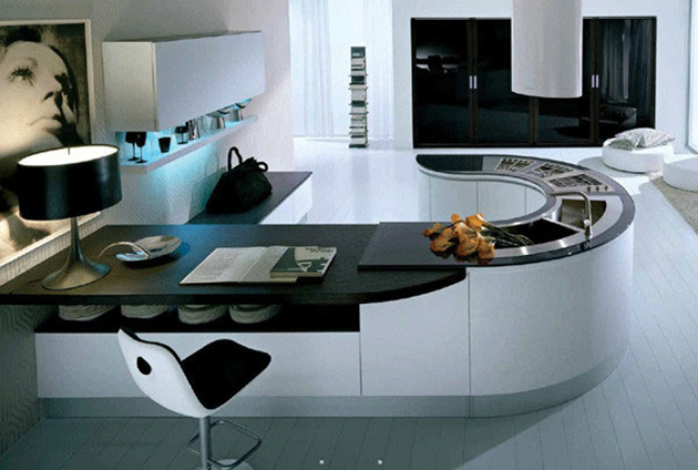 J-shaped-kitchen-island