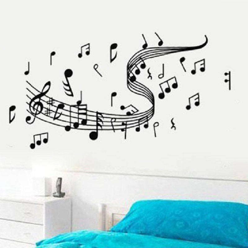 Use vinyl decals or paint to create music notes on your walls.