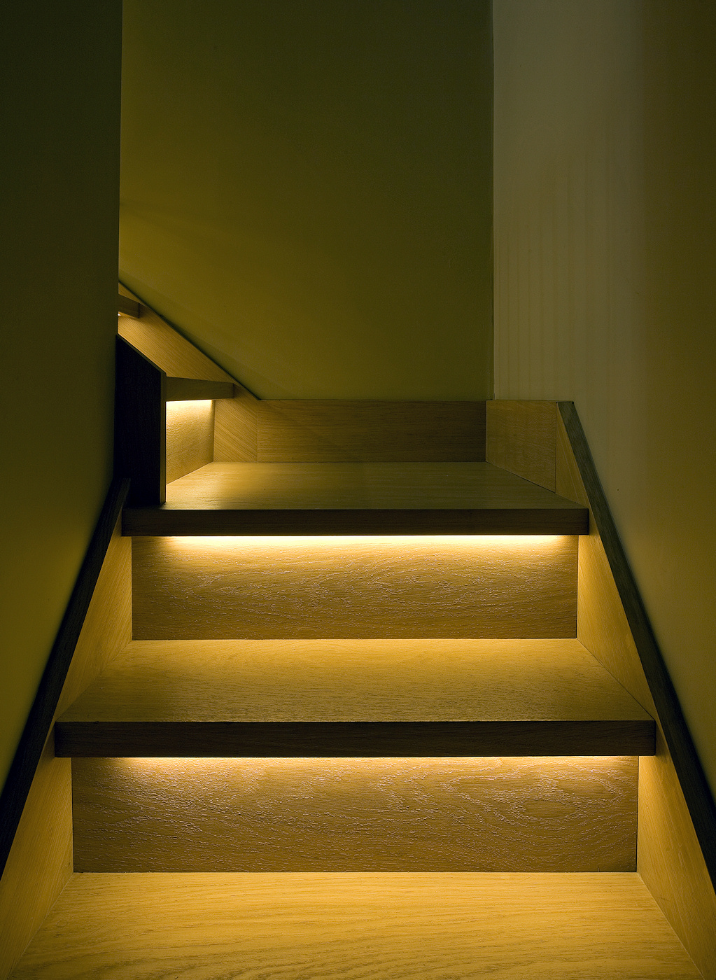 LED lighting can illuminate your stairs as well as provide ambient lighting for your home.