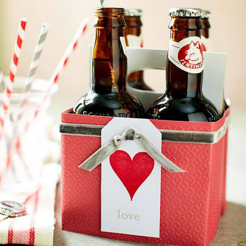 If your loved one enjoys a drink, these romantic libations are the perfect DIY gift!
