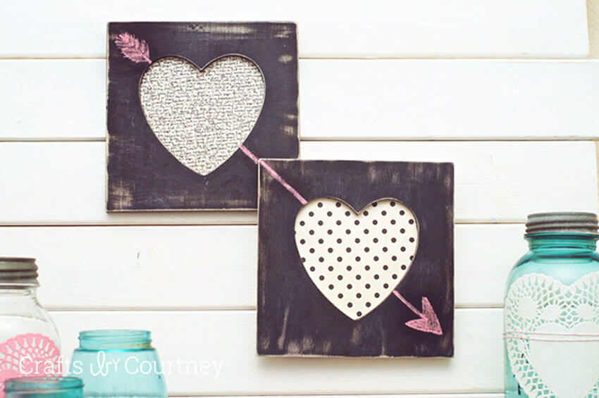 DIY chalkboard hearts are the perfect DIY gift for Valentin's Day!