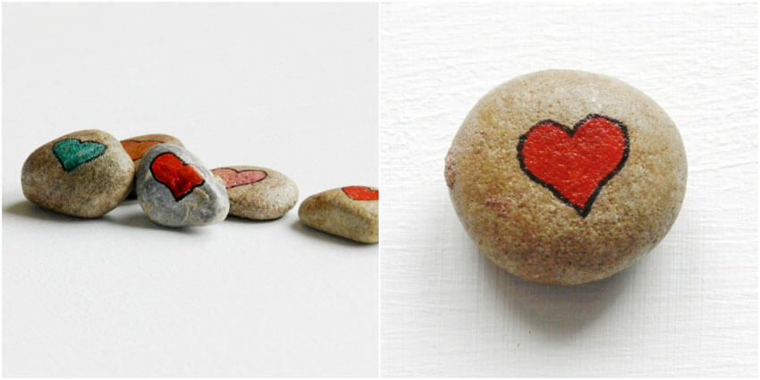 These adorable DIY love rocks are sure to make your loved one smile!