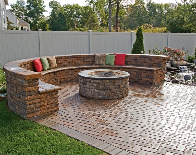 Custom patio work in your backyard.