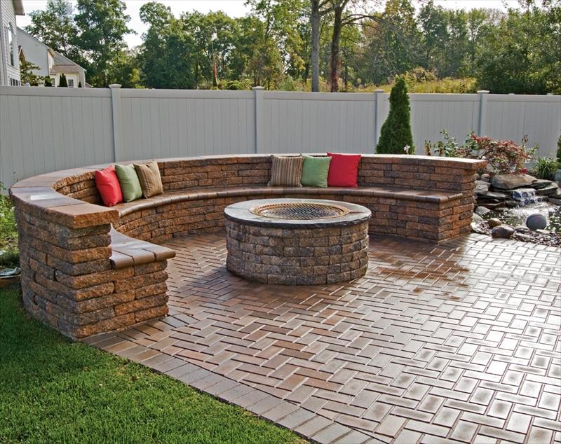 Custom patio work in your backyard.