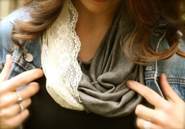 The infinity scarf is good for motherly fashion no matter what season!