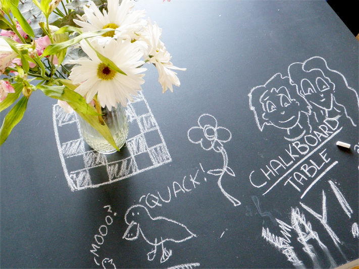 Write down or doodle on the table. That's what tables are also for. Image Source: Carro de Mola
