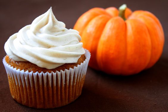 These amazing pumpkin flavored cupcakes will fill and fall kitchen with love!
