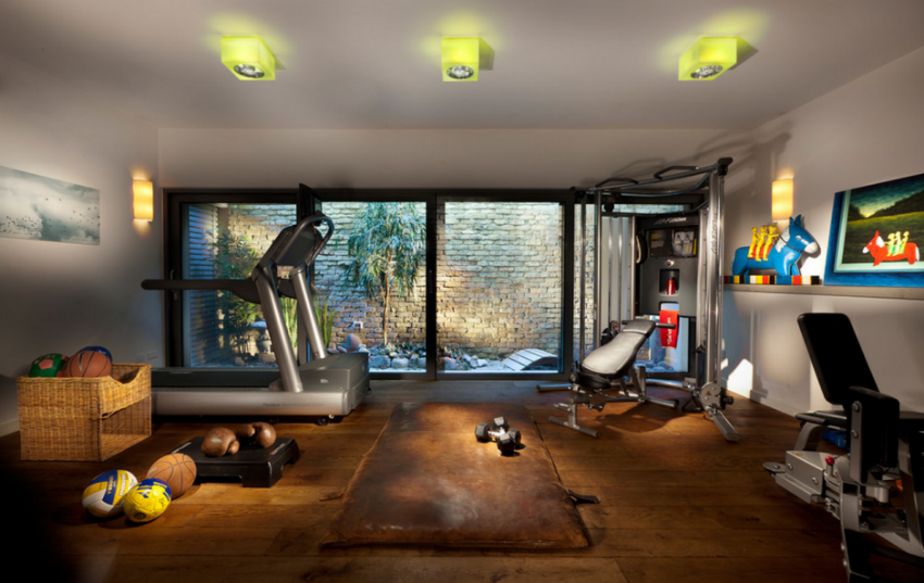 There are numerous benefits of having a gym at home. These cool home gym ideas will certainly inspire you. Image Source: Home and Garden Design Ideas