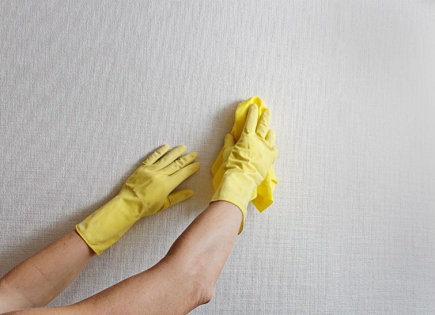 Make sure your walls are clean and consider painting those that look the worst. Image Source: Surrey Cleaning Angels