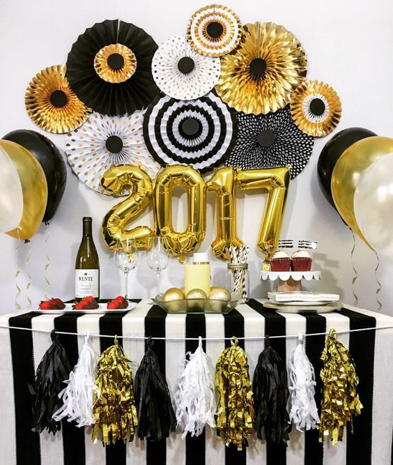 Decorations for your New Year's Eve party can be as simple or as extravagant as you want!