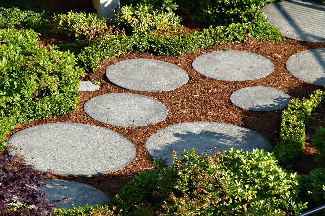 A DIY garden walkway adds character and personality to your backyard.