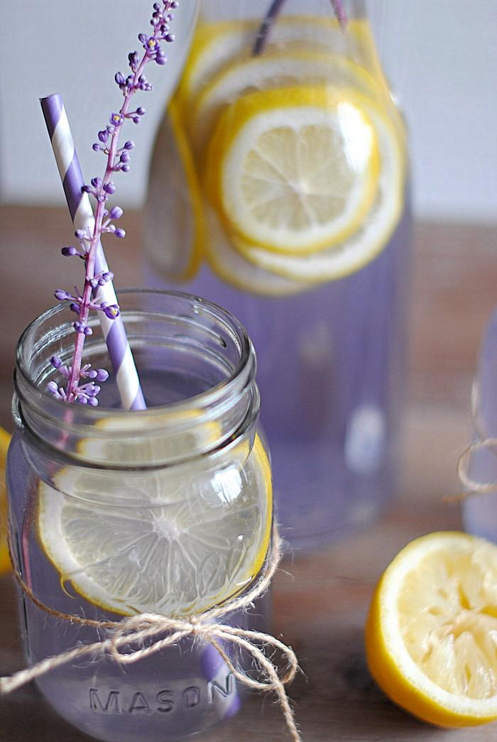 spring inspired lavender lemonade