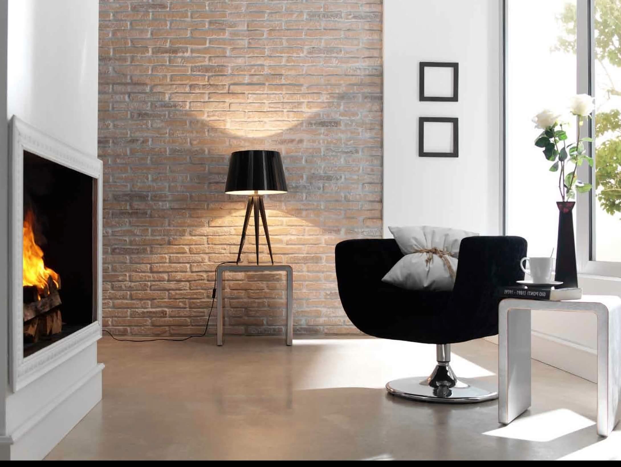 Brick provides a classy interior choice