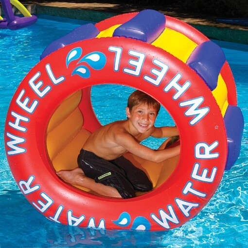 The water wheel swimming pool toy for kids!
