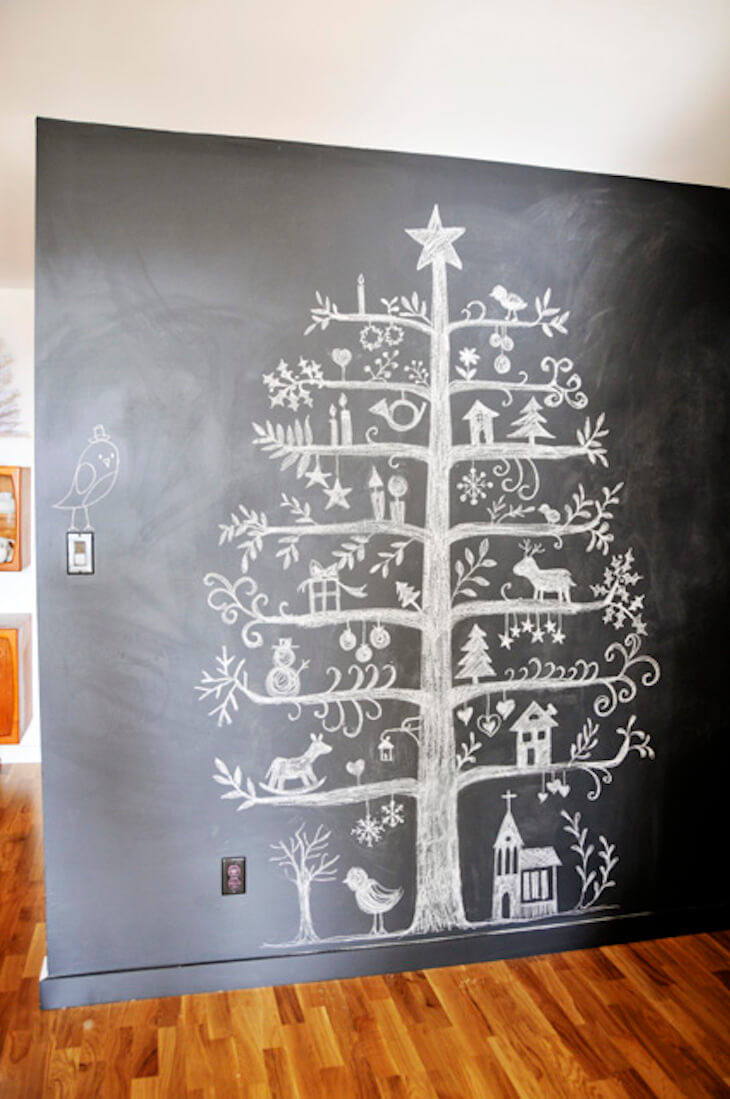 Easy wall paint that turns into home decor naturally