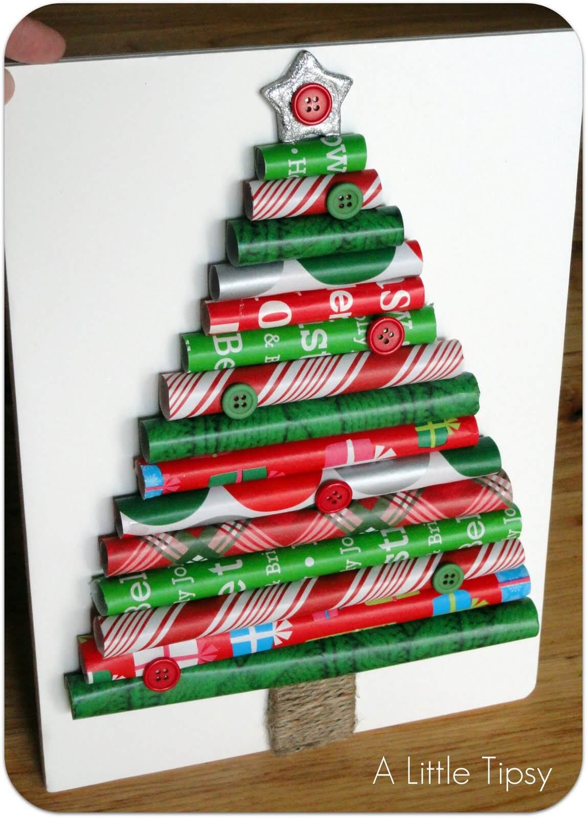 Save your extra wrapping paper for holiday decor