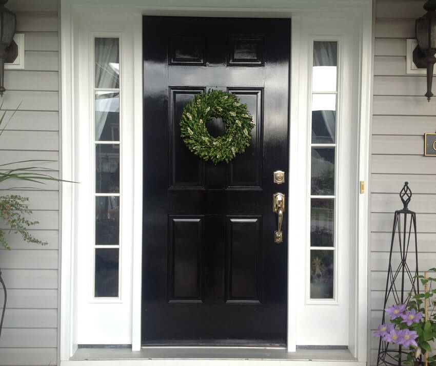Black front doors add class and sophistication to your home.