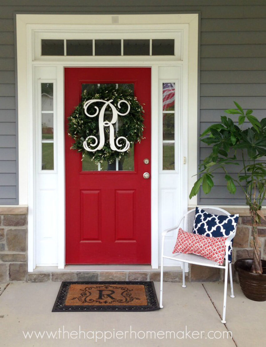 Red front doors are bold and full of personality.