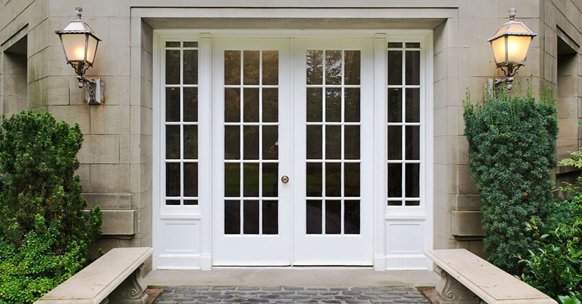 White is the most popular color for front doors.