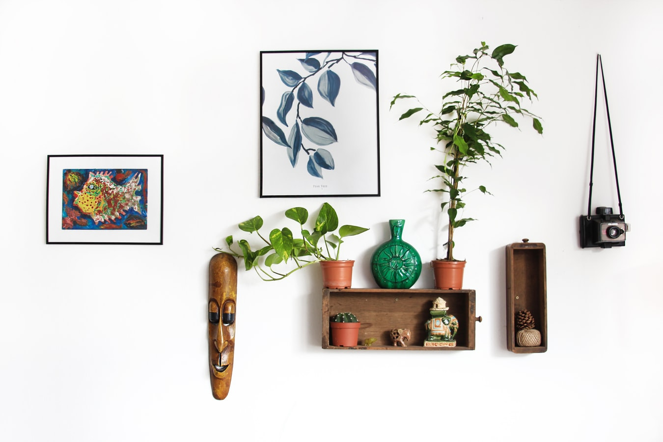 Wood, leather and houseplants will make your home feel cozier. Source: Unsplash