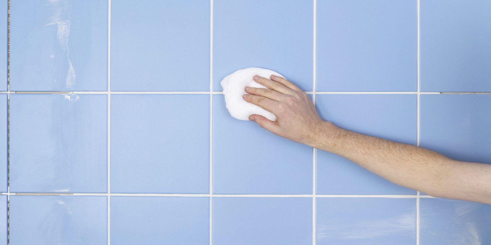 Dish soap is also a great idea to clean grout. Source: Woman's Day
