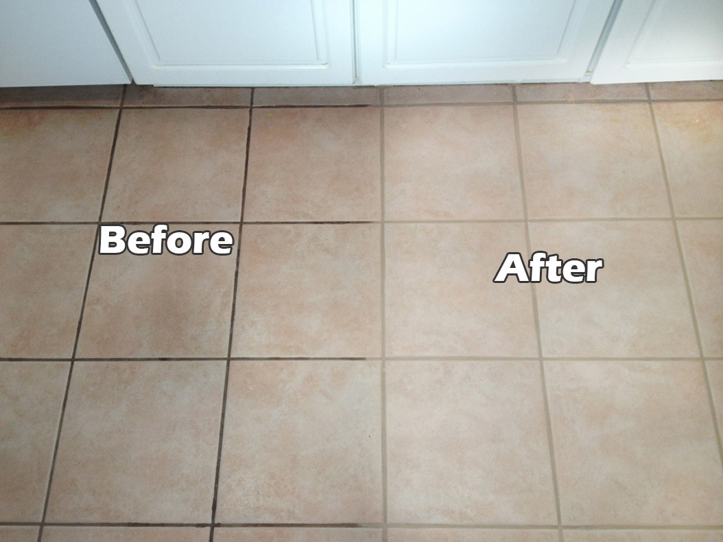 Vinegar and baking soda is a great combination to clean grout. Source: Decoist